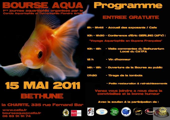Bourse aquariophile de Béthune du 15 mai 2011